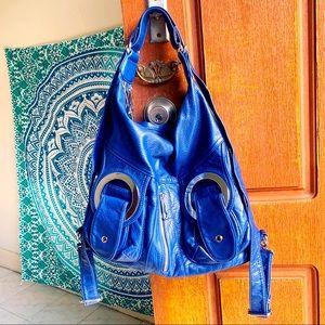 Electric blue bag